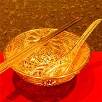 北京千足金黄金摆件回收